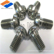 high strength Gr5 M8 titanium screw with button head