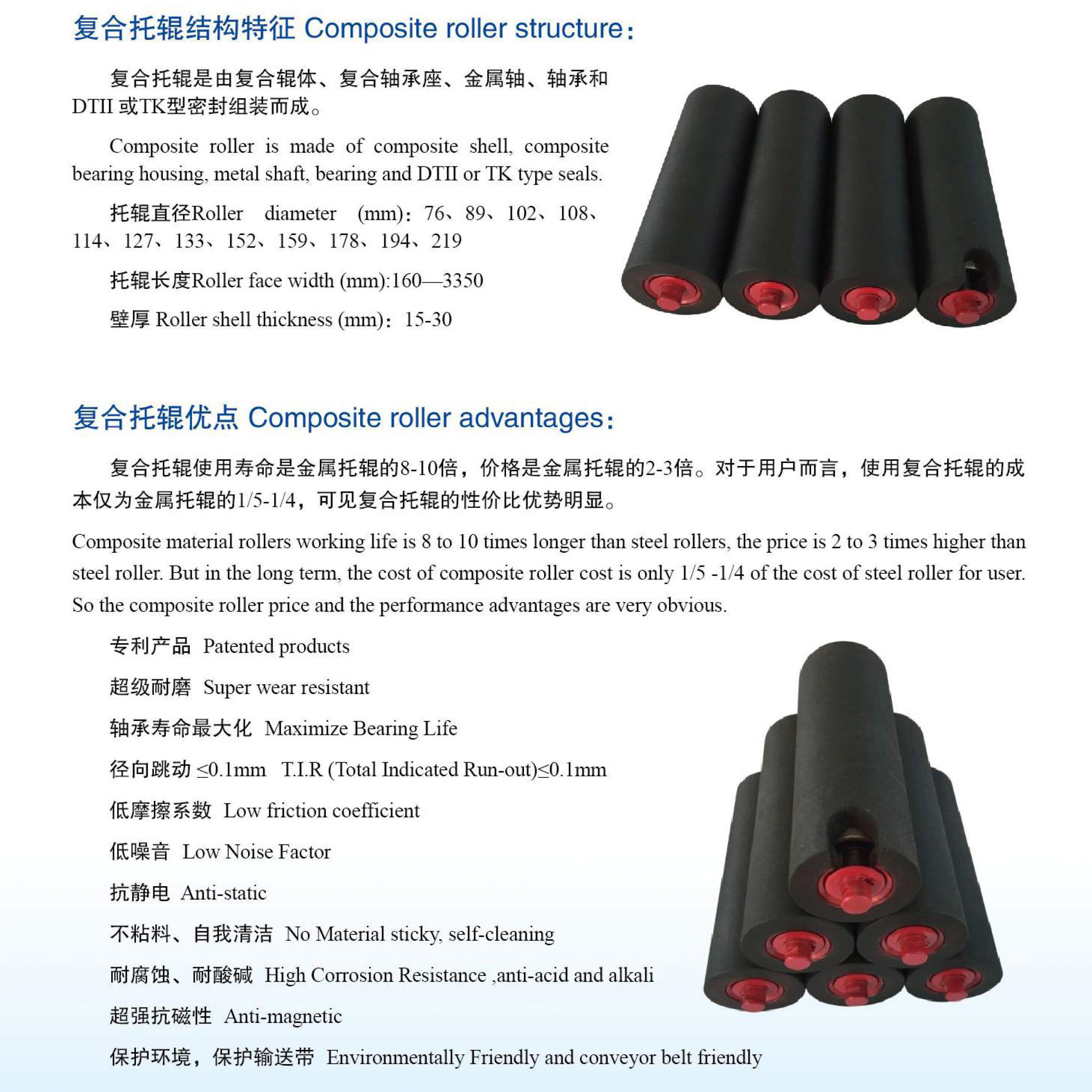 composite roller advantages