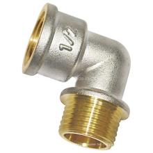 Acoplamiento de tornillo niquelado - Codo F / M (a 0302)