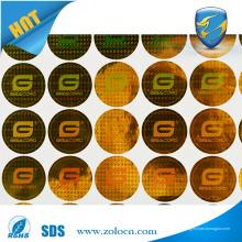 Impressão personalizada faz uma etiqueta de etiqueta de etiqueta holográfica com o melhor preço