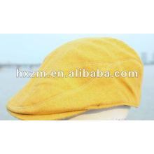 Chapeau de béret jaune personnalisé avec accessoires de mode