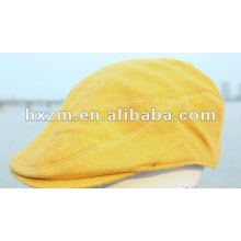 customized yellow beret hat with fashion accessories