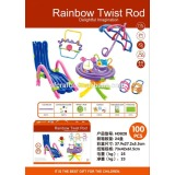 Hot sales High quality Educational DIY Kids raibow twist rods Toys