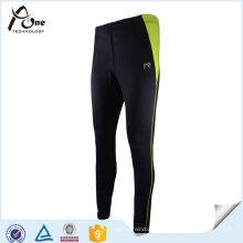 Esportes feitos sob encomenda da forma das calças justas da compressão dos homens