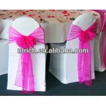 Faixa de cadeira organza decorativa para casamento