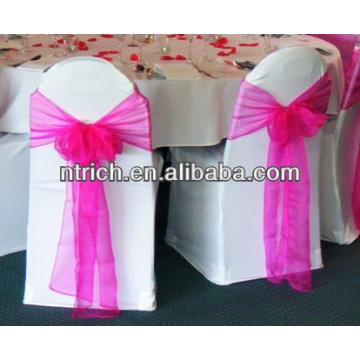 Ceinture de chaise d'organza décoratifs pour mariage
