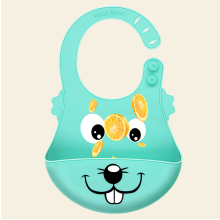 FDA Waterproof Silicone Baby Bib Children Feeding Bib