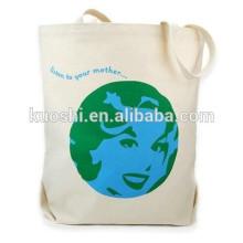 Small plain canvas cotton clutch tote bag