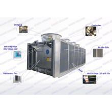 Tour de refroidissement à sec pour le refroidissement de grandes surfaces