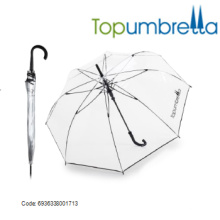 Guarda-chuvas transparentes claros do PVC da alta qualidade com laço da flor Guarda-chuvas transparentes claros do PVC da alta qualidade com laço da flor