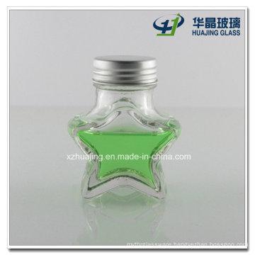 50ml Five Star Shape Wishing Mason Glass Jar
