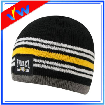 Custom Woven Label Acrylic Running Beanie Hat