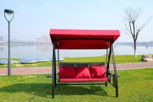 आधुनिक लोकप्रिय उद्यान स्विंग सेट/आउटडोर स्विंग कुर्सी कुशन के साथ