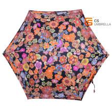 Super léger fleur colorée 5 pliage parapluie avec étui (YSF5006B)