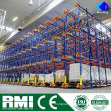Sistema de estanterías de paletas fabricante de la fábricaEjecución de paletas de transporte de radios industriales duy heavy metal de alta densidad