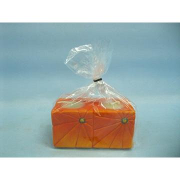 Pumpkin Candlestick Shape Ceramic Crafts (LOE2362-9z)