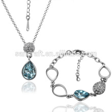 2014 HOT WHOLESALE FASHION JEWELRY SET ,DAZZLING SILVER CRYSTAL JEWELRY SET, CHEAP AFRICAN JEWELRY SETS 18K