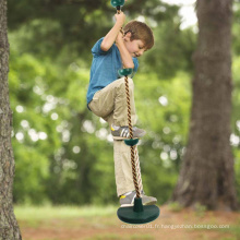 Balançoire de corde d'escalade pour enfants en plein air avec plate-forme