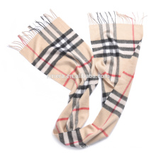 Inner Mongolia manufacturer fashion scarf wholesale SCI0032 wool cashmere blend unisex scarf