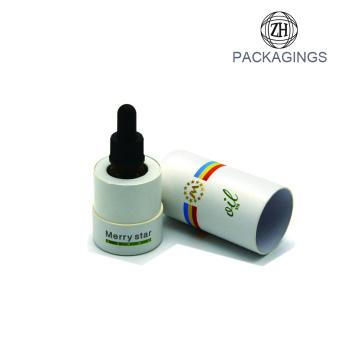 New cardboard shipping tube for oil bottle