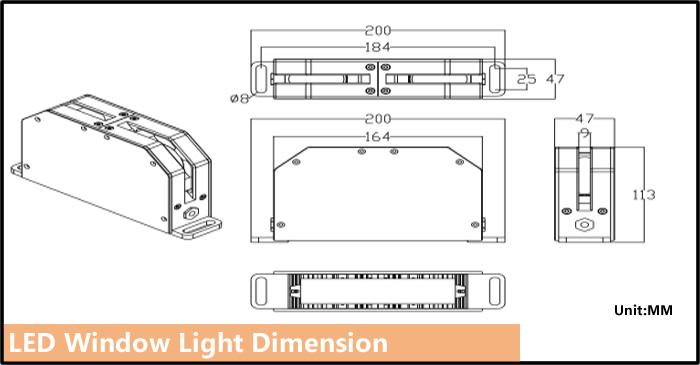 window light dimension