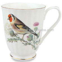 bird flower nature decal hand-painting A Grade fine bone china ceramic mug