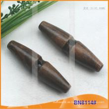 Mode Natürliche Holz Horn Toggle Button für Kleider BN8114