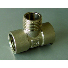 Тройник Ф/М/Ф резьбовых соединений (трубы PEX-Аль-PEX труб и водопровода)