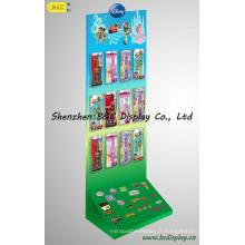 Affichage de crochets de papier de carton, affichage de carton de promotion (B & C-B037)