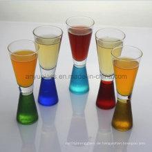Bunte Martini-Gläser, Cocktail-Gläser, Weinglas-Cup und Becher