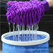 Car Polishing Glove / microfiber car wash mitt/Chenille fancy cleaning mitt