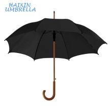 Рекламная продукция дешевые рекламные логотип классический среднеразмерный обычный деревянный прямой зонтик деревянной ручкой для джентльмена