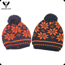 Children Winter Acrylic Jacquard Hat Snowflake Pattern
