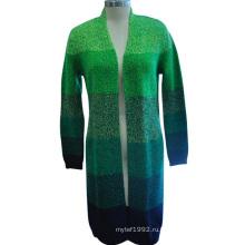 Популярные с длинным рукавом кардиган пальто женщин свитер