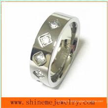 Bijoux Fashion High Quality CZ Stainless Steel Ring (CZR2525)