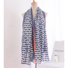 Lady Fashion Printed Cotton Linen Silk Scarf (YKY1141)