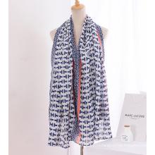 Леди мода печатных хлопок льняной Шелковый шарф (YKY1141)