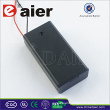 Daier aa battery holder with cover 3v battery holder with switch control 2 aa battery holder