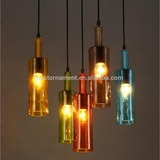 Vintage Industrial Edison ceiling lamp Chandelier pendant light with Glass bottle