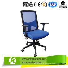 Chaise de bureau de différentes couleurs avec accoudoir et pieds en nylon