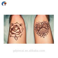 Original Henna Body Sticker Tattoo, etiqueta temporária do tribo da noiva com alta qualidade