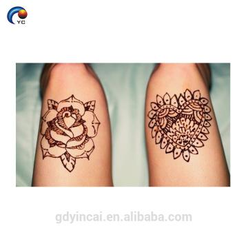 Einzigartige Henna Body Sticker Tattoo, temporäre Braut Tribal Tattoo Aufkleber mit hoher Qualität