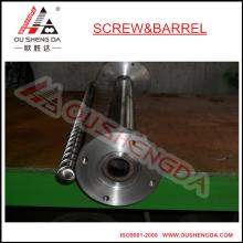 single extruder screw and barrel with flange screw barrel for PVC UPVC SPVC