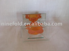 Glass candler holder (art ware)