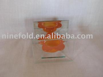 Glass candler holder (art ware)