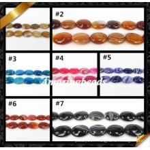 Bijoux en agate de haute qualité, pierre d'agate semi-précieuse, perles de pierres précieuses (AG008)