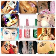 Tinta de tatuagem fluorescente profissional
