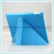 Dobrar Flip PC + estojo de couro do plutônio para a tampa do iPad com suporte
