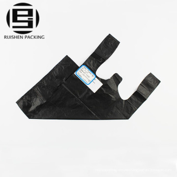 Black t-shirt garbage bags with custom logo