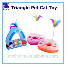 Cat Scratch Pad Triangular Cat Toys Interactive Game Board with Ball